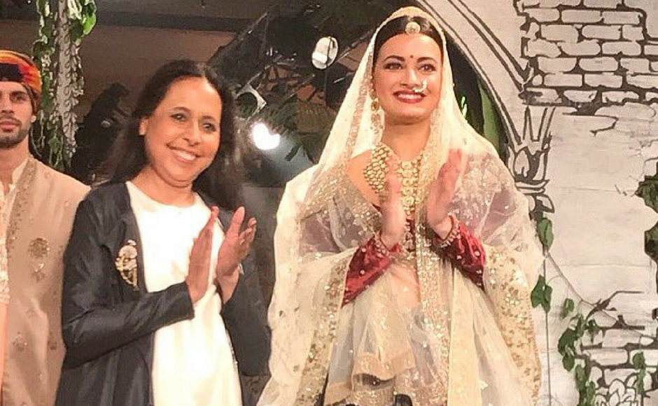 India Couture Week 2017: Dia Mirza is showstopper for Anju Modi, Rahul Mishra displays floral collection