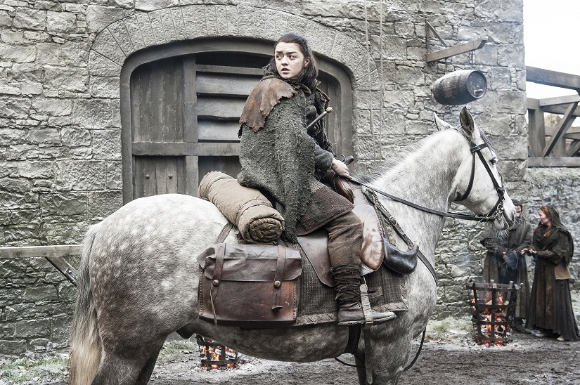 Winterfell, or King's Landing - which way should I go, wonders Arya. Still from Game of Thrones season 7 episode 2, 'Stormborn', via HBO