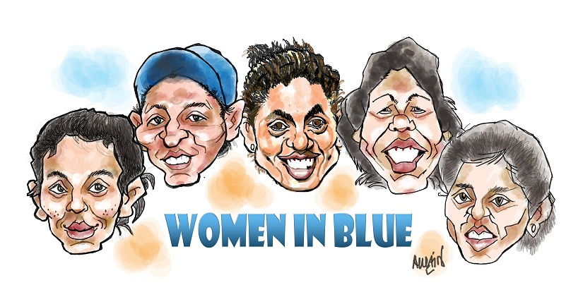 India women's national cricket team. Illustration courtesy Austin Coutinho