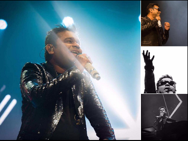 A.R. Rahman during the concert. Image from Twitter.