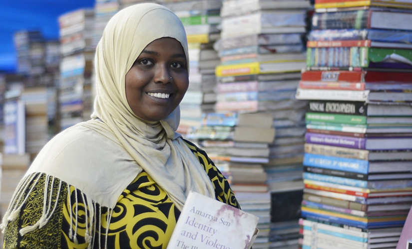 Halima at the book market. Jay Mehta/Firstpost