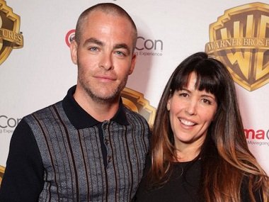Chris Pine and Patty Jenkins. Image from Twitter.