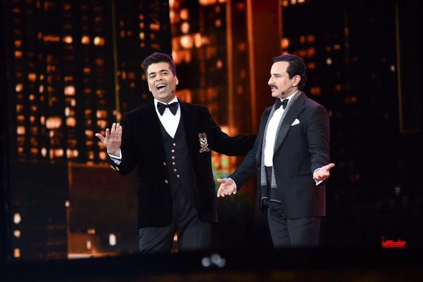Karan Johar and Saif Ali Khan at IIFA 2017. Image from Facebook