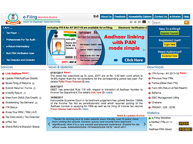 A quick guide to filing income tax return for AY 2017-2018; you can do it online in less than 15 minutes