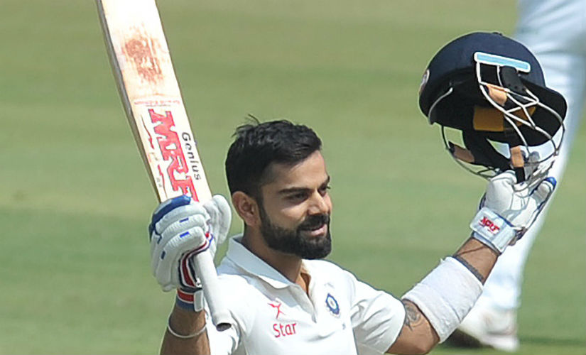 Kohli is due for a big score and it may not be long before he gets one. AFP