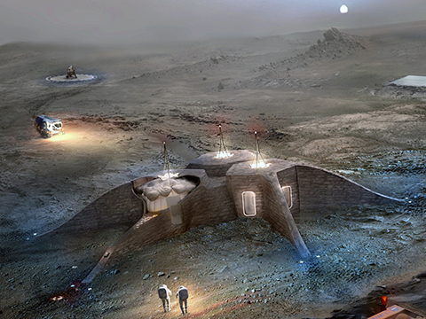 A Mars base concept by Team Nest. Image: NASA.