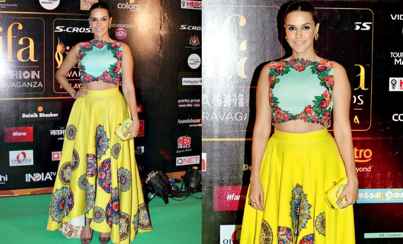 Neha Dhupia at IIFA 2015. Images from Twitter.