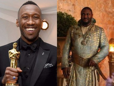 Mahershala Ali-Nonso Anozie. Images from Twitter.