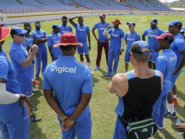 File photo of the Windies cricket team. Image courtesy: Twitter/ @westindies