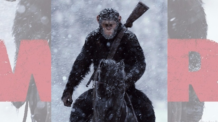 Poster of War for the Planet of the Apes. Image via Twitter