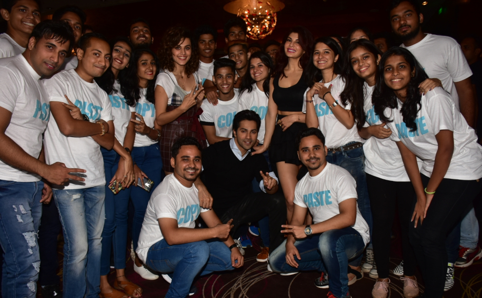 Judwaa 2 trailer was launched by Varun, Jacqueline and Taapsee amidst 100 judwas
