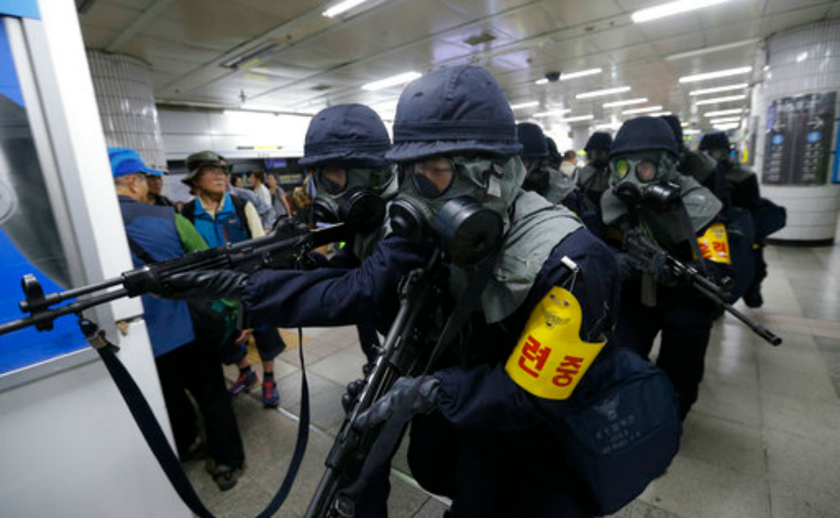 South Korea stages anti-terror drill as part of Ulchi Freedom Guardian joint exercise with US Army