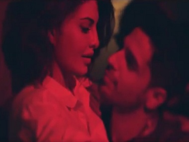 Still from the teaser of 'Bandook Meri Laila' featuring Sidharth Malhotra and Jacqueline Fernandez. Screen grab from Twitter
