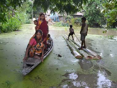 Assam flood situation worsens one drowns 40000 people affected in Sonitpur