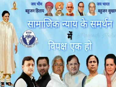 BSP poster, featuring Mayawati, Akhilesh, Sonia and Mamata, calls for unity against BJP, taken down from Twitter