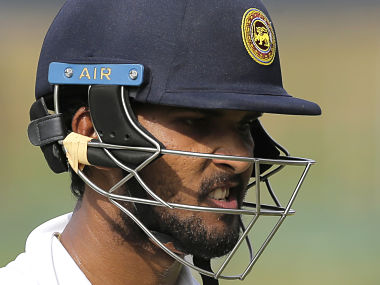 Sri Lanka captain Dinesh Chandimal reacts after losing his wicket during the second day's play. AP