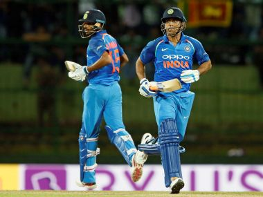 India's MS Dhoni and Bhuvneshwar Kumar run between wickets in the 2nd ODI. Reuters