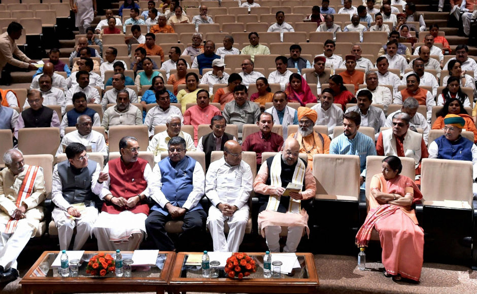 Amit Shah pulls up MPs over absenteeism in Rajya Sabha at BJP Parliamentary party meeting