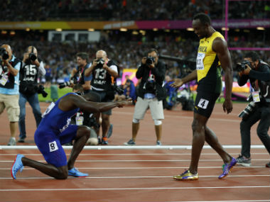 IAAF World Athletics Championships 2017: Justin Gatlin bows to Usain Bolt after winning 100m gold