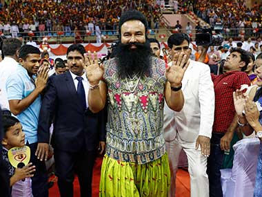 Gurmeet Ram Rahim convicted of rape Violent protests break out in Panchkula media vans attacked