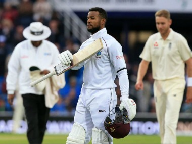 Shai Hope scored a century in both innings of the Test match. Image Courtesy: Twitter @ICC