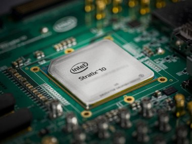 Project Brainwave demonstrated using Intel's Stratix 10 FPGA.