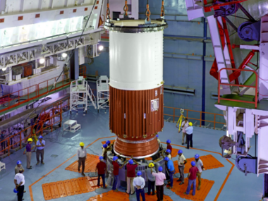 ISRO IRNSS-1H PSLV-C39 rocket satellite core stage assembly 380