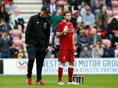 FA Cup Liverpool midfielder Adam Lallana suffers injury setback ahead of West Bromwich Albion clash