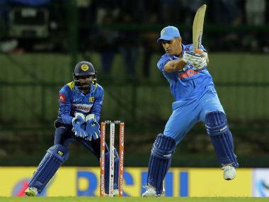 MS Dhoni remained unbeaten on 45 in the 2nd ODI in Pallekele. AP