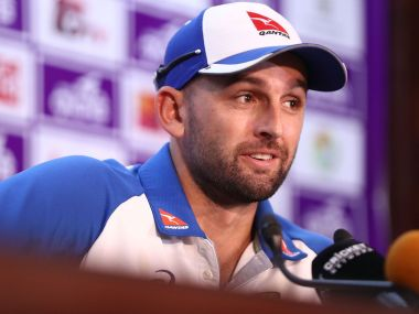 Nathan Lyon at a press conference ahead of the first Test against Bangladesh. Image courtesy: Twitter/@CricketAus