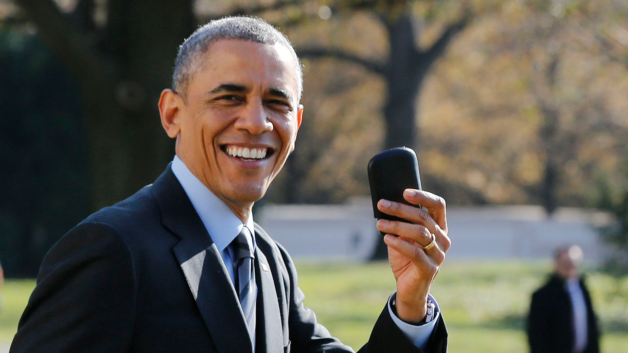 Obama had to fight the CIA for the right to use his BlackBerry when he took office in 2007. Reuters