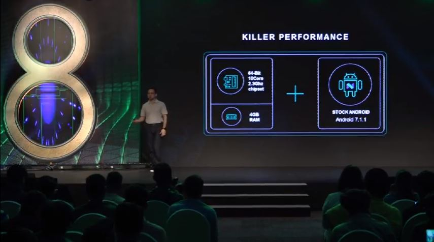 The CPU on the K8 Note is a Helio X23