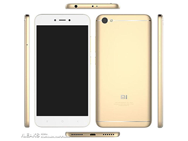 A leaked image of the Xiaomi Redmi 5A. Slashleaks