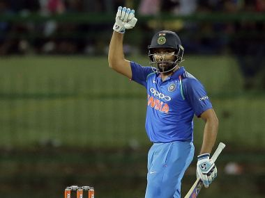 Rohit Sharma silenced his critics with a matured century against Sri Lanka at Palekelle. AP