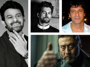 Prabhas to fight three villains in Saaho. Clockwise: Neil Nitin Mukesh, Chunky Pandey and Jackie Shroff. Images via Facebook