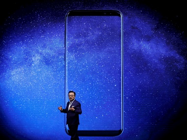 Koh Dong-jin, president of Samsung Electronics at the Galaxy S8 launch in April