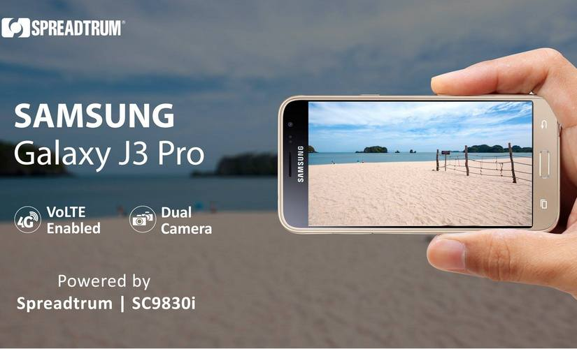 Samsung J3 Pro sports a Spreadtrum chipset. Spreadtrum