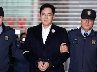 Samsung's Jay Y. Lee was arrested in the graft scandal. Reuters