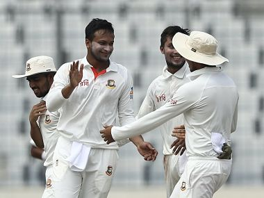 Shakib Al Hasan scalped five wickets to put Bangladesh in driver's seat against Australia in the first Test. Image courtesy: Twitter @ICC