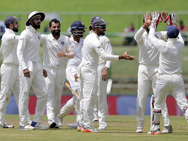 Mohammed Shami, Hardik Pandya blow Sri Lanka's top-order away as hosts trail by 426 runs at tea on Day 2