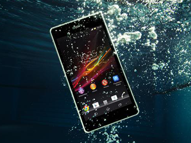 A Sony ad for its 'waterproof' phones