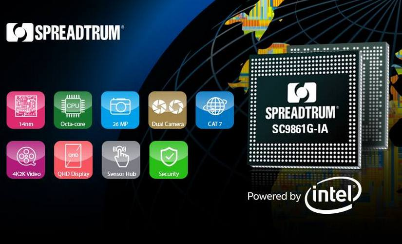 Spreadtrum has partnered with Intel to release this 14nm chipset. Spreadtrum