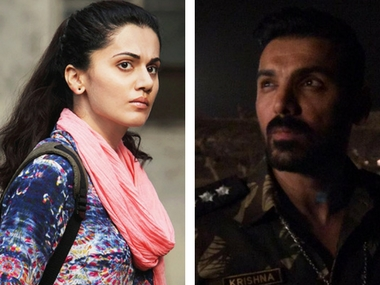 Taapsee Pannu and John Abraham. Images via Facebook