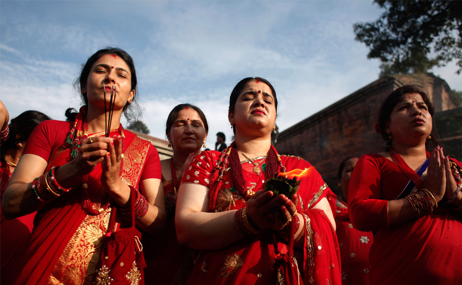 Festivities and food mark Teej in Nepal as festival of fertility enters second day