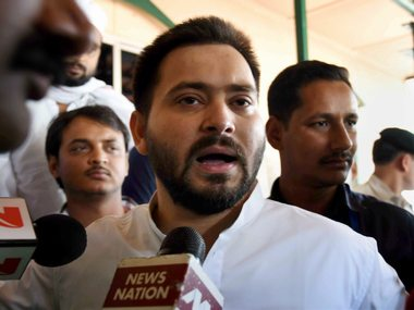 Tejashwi Yadav takes a dig at Nitish Kumar over tainted new Bihar govt