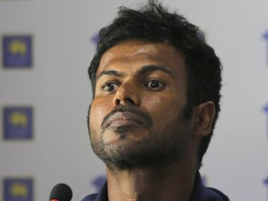 Sri Lanka's one-day international cricket captain Upul Tharanga listens to a journalist during a media briefing ahead of their ODI match series against India in Colombo, Sri Lanka, Wednesday, Aug. 16, 2017. (AP Photo/Eranga Jayawardena)