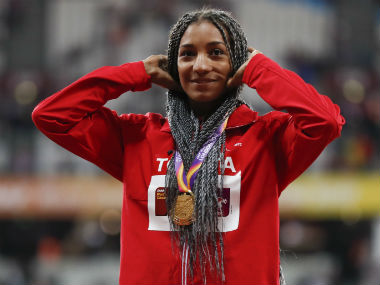 IAAF World Athletics Championships 2017: Nafi Thiam adds heptathlon gold to Olympic crown in London