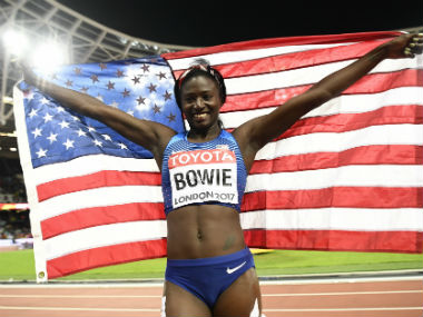 IAAF World Athletics Championships 2017: Tori Bowie claims gold with dramatic finish in 100m final