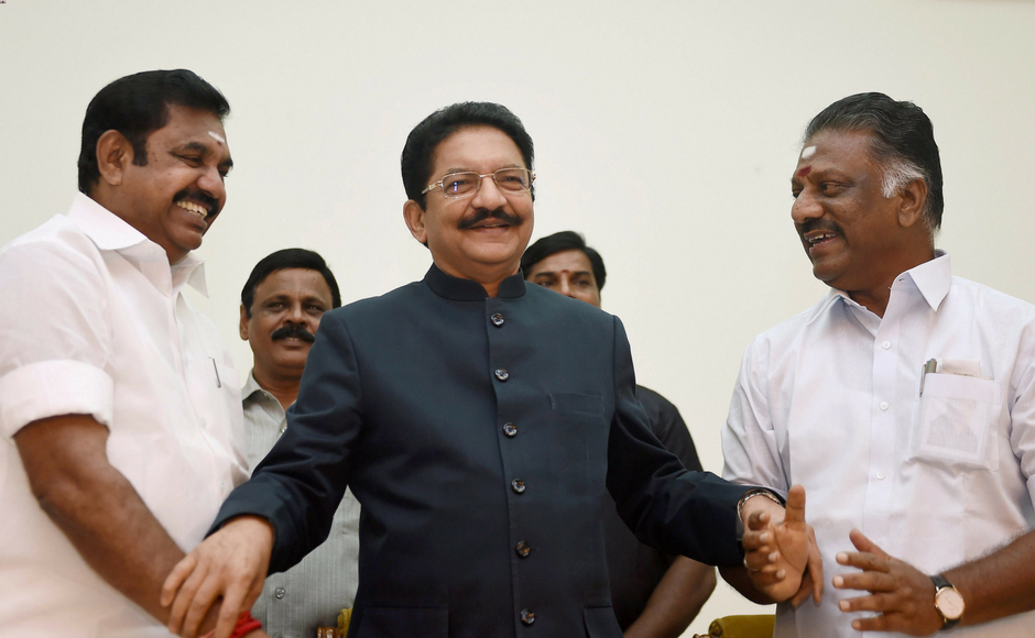 AIADMK merger: O Panneerselvam joins E Palaniswamy's Cabinet as deputy chief minister