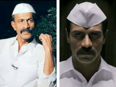 Arun Gawli (left) and Arjun Rampal in the film, Daddy. Images via Facebook